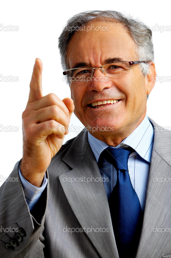 Confident business man gesturing that he has a great idea  Stock Photo #3246714