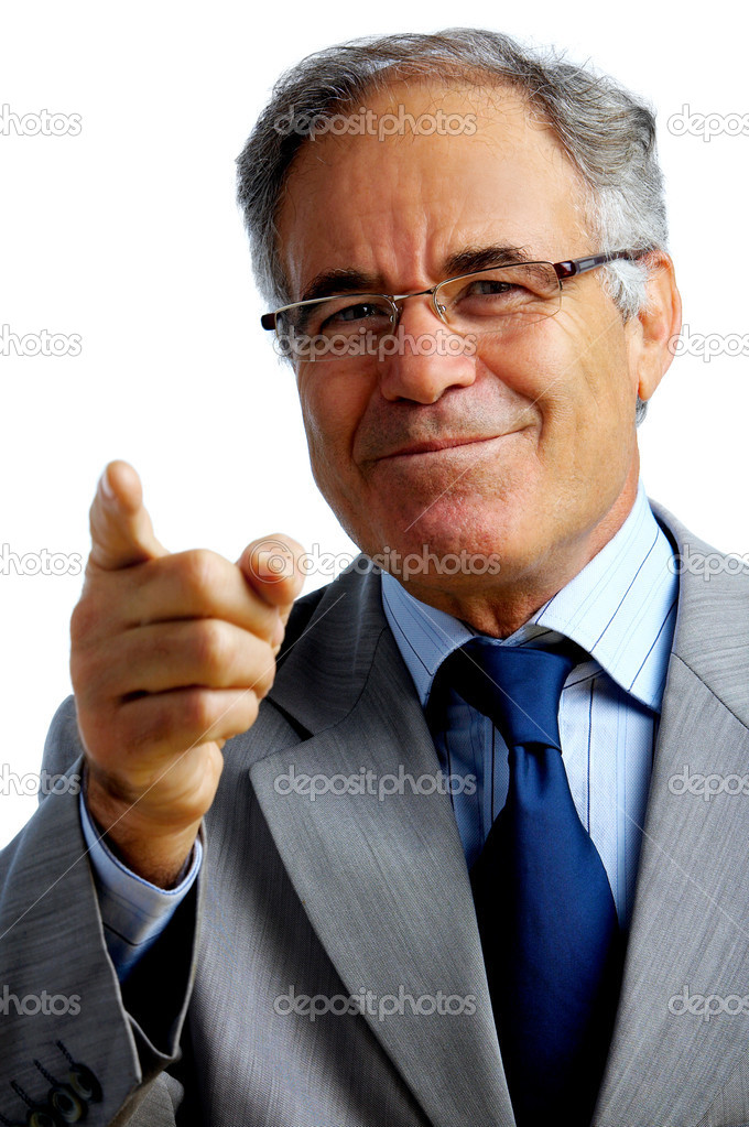 Confident business man gesturing that he wants you on his team — Stock Photo #3246717