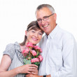 Royalty-Free Stock Photo: Closeup of a happy senior man and woman