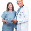 Royalty-Free Stock Photo: Portrait of happy senior doctors