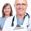 Royalty-Free Stock Photo: Closeup portrait of happy senior doctors