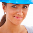 Royalty-Free Stock Photo: Portrait of a beautiful smiling young female architect