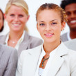 Royalty-Free Stock Photo: Portrait of smiling business against white