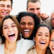 Closeup portrait of a group of business laughing - Stock Photo