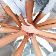 Business standing with hands together - Foto de Stock  