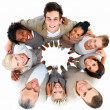 Business group showing teamwork - Stock Photo