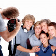 Photographer  taking picture of models - Stock Photo