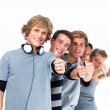 Royalty-Free Stock Photo: Group of students giving the thumbs up