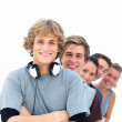 Royalty-Free Stock Photo: Row of friendly teenagers smiling