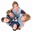 Young grouped together in unity - Stock Photo