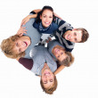 Royalty-Free Stock Photo: Teenagers holding each other - unity