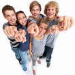 Royalty-Free Stock Photo: Young friends pointing their fingers