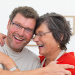 Royalty-Free Stock Photo: Mature couple enjoying a laugh together