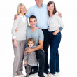 Royalty-Free Stock Photo: Isolated portrait of happy family