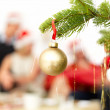 Closeup of a decoration hanging on a Christmas tree - Stock Photo
