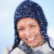 Royalty-Free Stock Photo: Christmas concepts smiling young woman in the snow