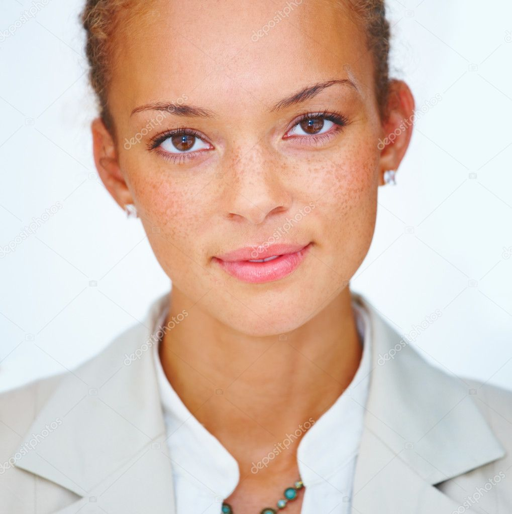 Portrait of pretty young business woman — Stock Photo #3274118
