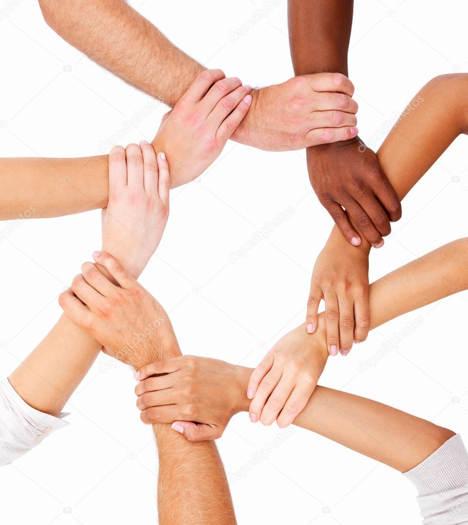 Hands linked in unity  Stock Photo #3275460