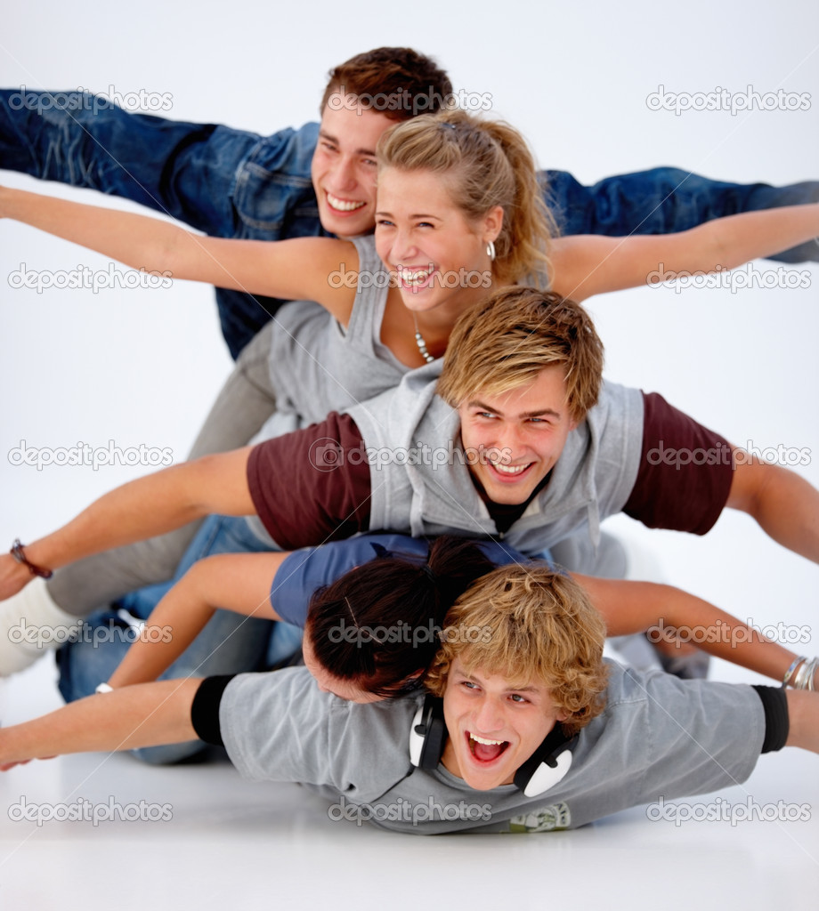 Group of laughing friends having fun  — Stock Photo #3277405