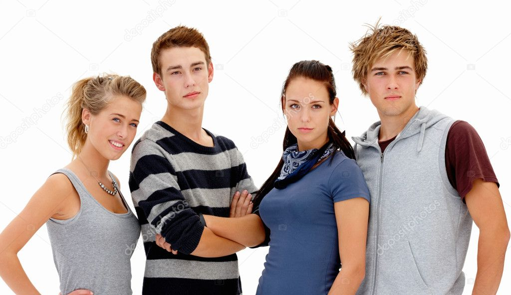Portrait of confident young students  — Stock Photo #3277438