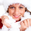 Royalty-Free Stock Photo: Closeup of a woman dressed as Santa Claus