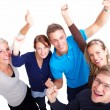 Celebration - Happy young achievers celebrating - Stock Photo