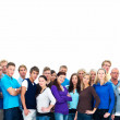 Royalty-Free Stock Photo: Group of casual modern with copyspace