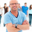 Individuality - Confident man smiling - Stock Photo