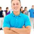 Ambitious - confident young guy smiling - Stock Photo