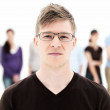 Royalty-Free Stock Photo: Portrait of a modern Uni student with glasses