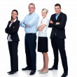 Royalty-Free Stock Photo: Modern business team standing isolated