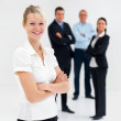 Individuality - Individual business woman smiling - Stock Photo