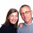 Portrait of happy senior couple on white background - Foto de Stock  