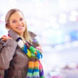 Royalty-Free Stock Photo: Caucasian woman carrying shopping bags