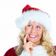 Royalty-Free Stock Photo: Smiling female Santa isolated with copyspace