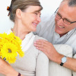 Royalty-Free Stock Photo: Husband visiting his wife in hospital