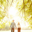 Royalty-Free Stock Photo: Autumn - Happy young couple walking together