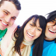 Royalty-Free Stock Photo: Group of happy friends smiling at you