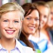 Royalty-Free Stock Photo: Education - Line of students smiling happily