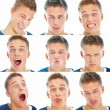 Royalty-Free Stock Photo: Montage of young man pulling faces