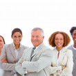 Group of confident smiling business - Stock Photo