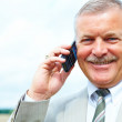 Royalty-Free Stock Photo: Senior business man using his mobile phone