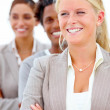 Royalty-Free Stock Photo: Smiling business standing with arms folded