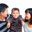 Royalty-Free Stock Photo: Successful asian child with his parents