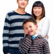 Royalty-Free Stock Photo: Dental - Happy asian child holding his cheek