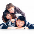 Royalty-Free Stock Photo: Happy young asian family playing together
