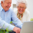 Royalty-Free Stock Photo: Closeup of a mature couple using a laptop