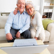 Royalty-Free Stock Photo: Senior couple sitting together with laptop