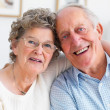 Royalty-Free Stock Photo: Closeup portrait of a smiling mature couple