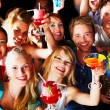 Group of enjoying cocktails - Stock Photo